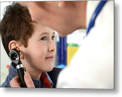 Ear Examination Metal Print by Tek Image