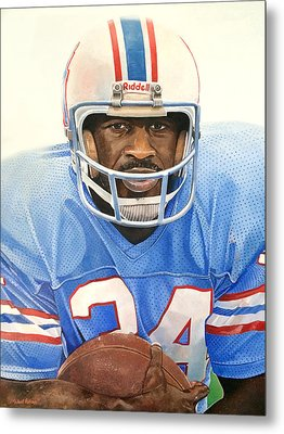Earl Campbell Metal Print by Michael  Pattison