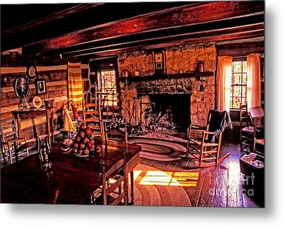 Early American Livingroom Metal Print by Paul W Faust -  Impressions of Light