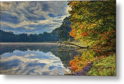 Metal Print featuring the photograph Early Autumn At Caldwell Lake by Jaki Miller