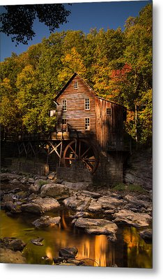 Early Autumn At Glade Creek Grist Mill Metal Print