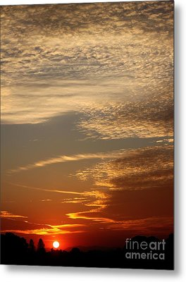 Early Autumn Sunset Metal Print by Erica Hanel
