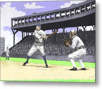 Early Baseball Metal Print by Steve Dininno