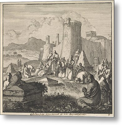 Early Christians Come Together At A Cemetery Metal Print by Quint Lox