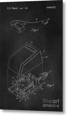 Early Computer Mouse Patent 1984 Metal Print by Edward Fielding