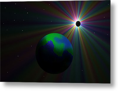 Early Earth Lunar Eclipse Metal Print by Ricky Haug