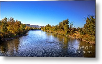 Early Fall On The Payette River Metal Print by Robert Bales