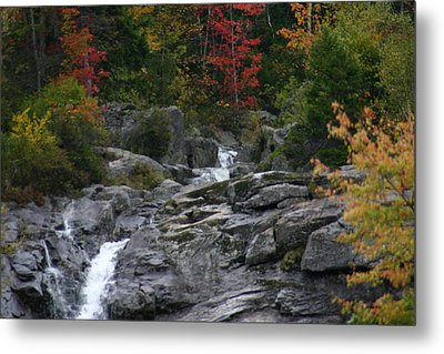 Metal Print featuring the photograph Early Fall Waterfall by Denyse Duhaime