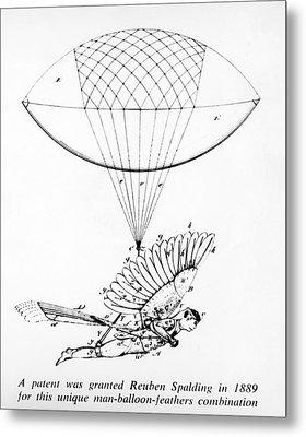 Early Flight Design Metal Print