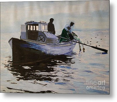Early Gillnetter At Work Metal Print by Bill Hubbard