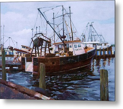 Early Harbor Morning Metal Print