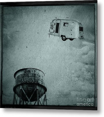 Early Historic Airstream Flight Metal Print by Edward Fielding