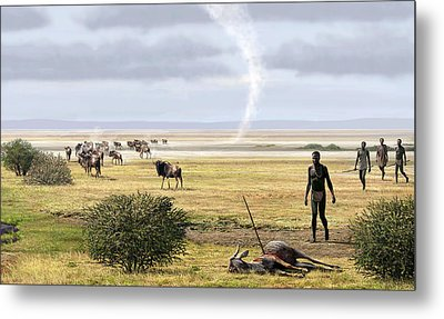 Early Humans Metal Print