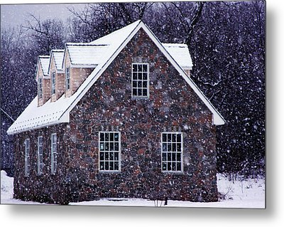 Metal Print featuring the photograph Early January Snow In Maryland by Andy Lawless