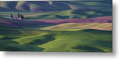 Early Light In The Palouse Metal Print by Latah Trail Foundation