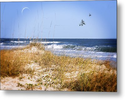 Early Moon Metal Print by Mary Timman