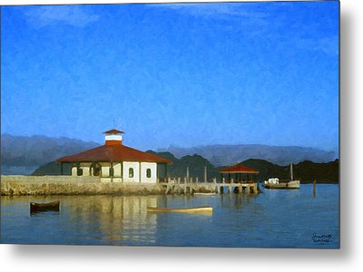 Early Morning At The Lake Metal Print by Spyder Webb