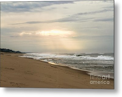 Early Morning By The Shore  Metal Print by A New Focus Photography