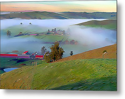 Early Morning Fog Over Two Rock Valley Metal Print by Wernher Krutein