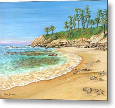 Early Morning Laguna Metal Print by Jane Girardot