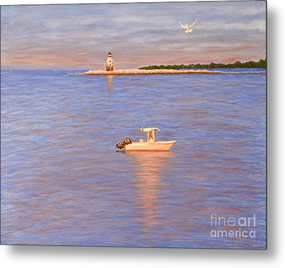 Metal Print featuring the painting Early Morning Light by Cindy Lee Longhini