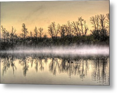 Metal Print featuring the photograph Early Morning Mist by Lynn Geoffroy