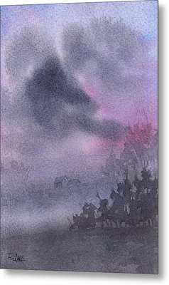 Metal Print featuring the painting Early Morning Mist by Rebecca Davis