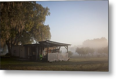 Early Morning On The Farm Metal Print by Lynn Palmer