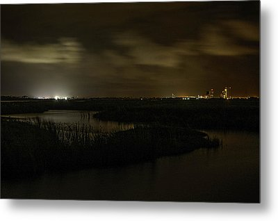 Metal Print featuring the digital art Early Morning Over Lake Shelby by Michael Thomas