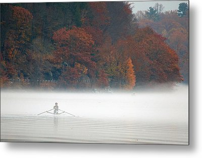 Early Morning Row Metal Print by Karol Livote