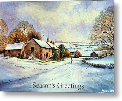 Early Morning Snow Christmas Cards Metal Print by Andrew Read