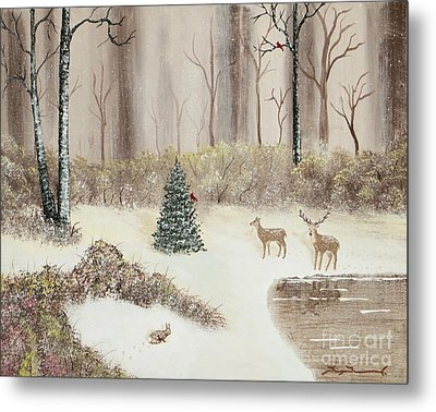 Early Morning Snow Metal Print