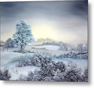 Early Morning Snows Metal Print