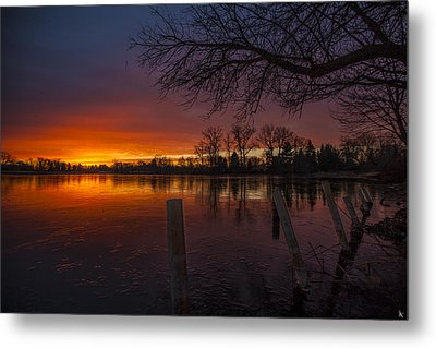 Metal Print featuring the photograph Early Morning Sunrise by Nicholas  Grunas