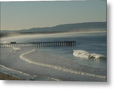 Early Morning Surf Pismo Beach Metal Print