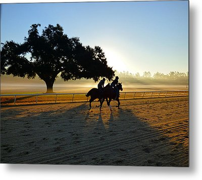 Early Morning Training Run Metal Print