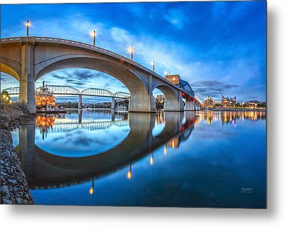Early Morning Under Market Street Bridge Metal Print
