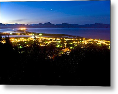 Early Morning View Of The Homer Spit As Metal Print by Bill Scott