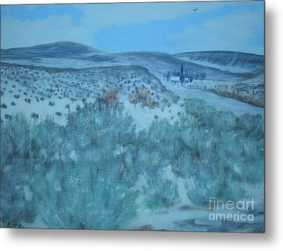 Metal Print featuring the painting Early Snow In Idaho by Suzanne McKay
