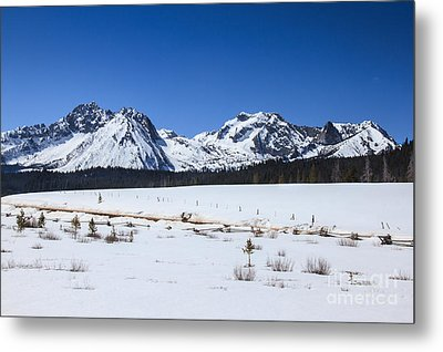 Early Spring In The Sawtooth Range Metal Print by Robert Bales
