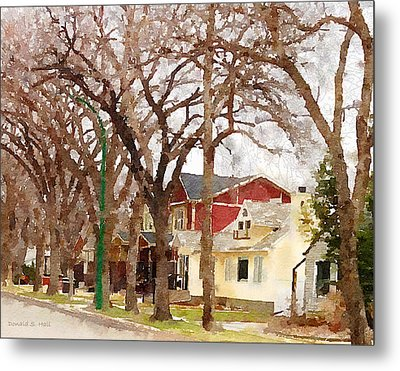 Early Spring Street Metal Print