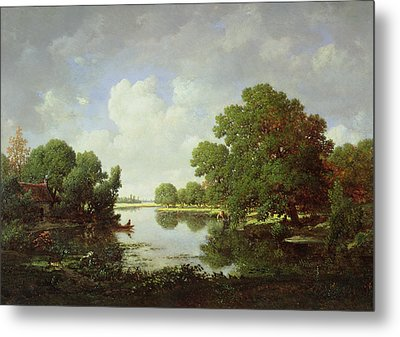 Early Summer Afternoon Metal Print by Pierre Etienne Theodore Rousseau