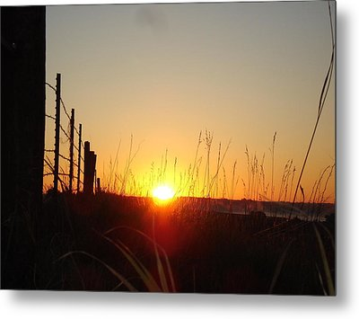 Early Sunrise In September Metal Print by J L Zarek
