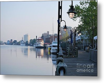 Metal Print featuring the photograph Early Morning Walk Along The River by Bob Sample