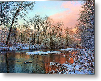 Early Winter Snow Metal Print by Mike Griffiths