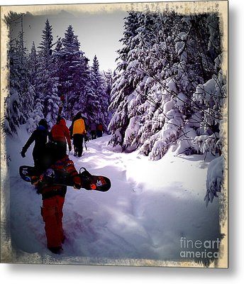 Metal Print featuring the photograph Earning Turns by James Aiken