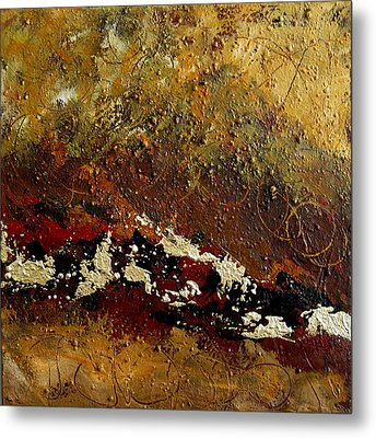 Metal Print featuring the painting Earth Abstract Four by Lance Headlee