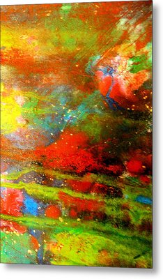 Earth And Sky Abstract Metal Print