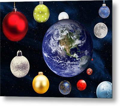 Earth Christmas 2 Metal Print by Bruce Iorio