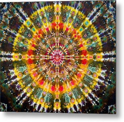 Earth Elements Mandala Metal Print by Courtenay Pollock